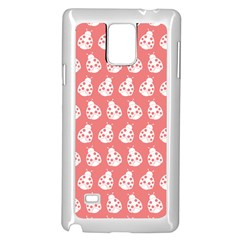 Coral And White Lady Bug Pattern Samsung Galaxy Note 4 Case (white)