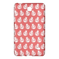 Coral And White Lady Bug Pattern Samsung Galaxy Tab 4 (8 ) Hardshell Case