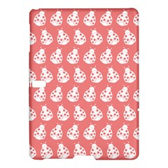 Coral And White Lady Bug Pattern Samsung Galaxy Tab S (10.5 ) Hardshell Case