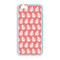 Coral And White Lady Bug Pattern Apple Seamless iPhone 6 Case (Color)