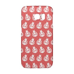 Coral And White Lady Bug Pattern Galaxy S6 Edge