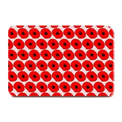 Red Peony Flower Pattern Plate Mats