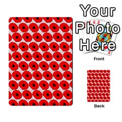 Red Peony Flower Pattern Multi Purpose Cards (rectangle)