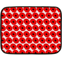 Red Peony Flower Pattern Fleece Blanket (Mini)