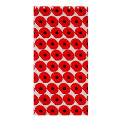 Red Peony Flower Pattern Shower Curtain 36  x 72  (Stall)