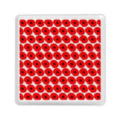 Red Peony Flower Pattern Memory Card Reader (Square)