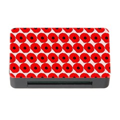 Red Peony Flower Pattern Memory Card Reader with CF