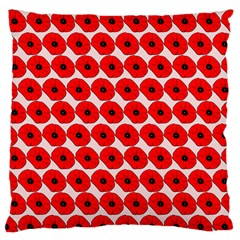 Red Peony Flower Pattern Large Flano Cushion Cases (One Side)