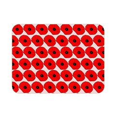 Red Peony Flower Pattern Double Sided Flano Blanket (Mini)