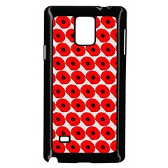 Red Peony Flower Pattern Samsung Galaxy Note 4 Case (Black)
