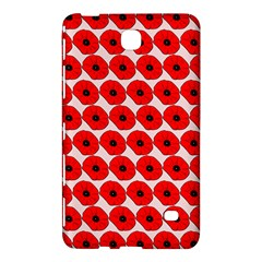 Red Peony Flower Pattern Samsung Galaxy Tab 4 (8 ) Hardshell Case