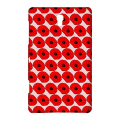 Red Peony Flower Pattern Samsung Galaxy Tab S (8.4 ) Hardshell Case