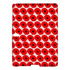 Red Peony Flower Pattern Samsung Galaxy Tab S (10.5 ) Hardshell Case