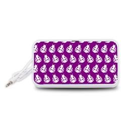 Ladybug Vector Geometric Tile Pattern Portable Speaker (White)