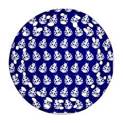 Ladybug Vector Geometric Tile Pattern Ornament (Round Filigree)