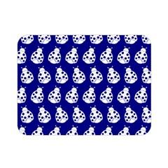Ladybug Vector Geometric Tile Pattern Double Sided Flano Blanket (Mini)