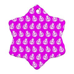 Ladybug Vector Geometric Tile Pattern Ornament (Snowflake)
