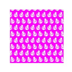 Ladybug Vector Geometric Tile Pattern Small Satin Scarf (Square)