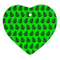 Ladybug Vector Geometric Tile Pattern Ornament (heart)