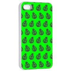Ladybug Vector Geometric Tile Pattern Apple iPhone 4/4s Seamless Case (White)
