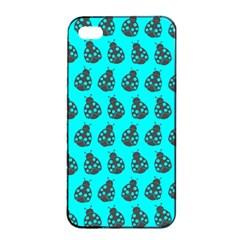 Ladybug Vector Geometric Tile Pattern Apple iPhone 4/4s Seamless Case (Black)