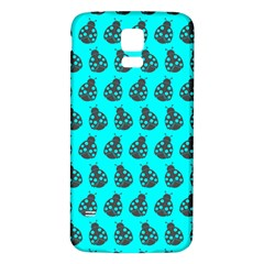 Ladybug Vector Geometric Tile Pattern Samsung Galaxy S5 Back Case (white)