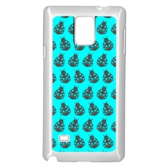 Ladybug Vector Geometric Tile Pattern Samsung Galaxy Note 4 Case (White)
