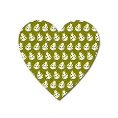 Ladybug Vector Geometric Tile Pattern Heart Magnet