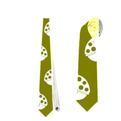 Ladybug Vector Geometric Tile Pattern Neckties (One Side)