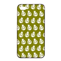 Ladybug Vector Geometric Tile Pattern Apple Iphone 4/4s Seamless Case (black)