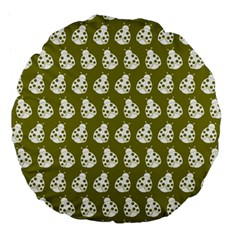 Ladybug Vector Geometric Tile Pattern Large 18  Premium Flano Round Cushions