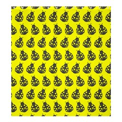 Ladybug Vector Geometric Tile Pattern Shower Curtain 66  x 72  (Large)
