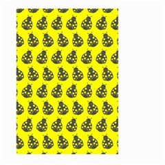 Ladybug Vector Geometric Tile Pattern Large Garden Flag (Two Sides)