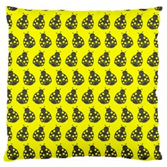 Ladybug Vector Geometric Tile Pattern Large Flano Cushion Cases (one Side)