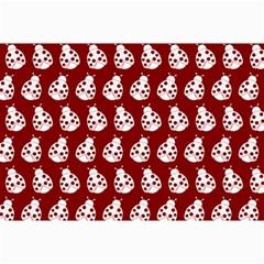 Ladybug Vector Geometric Tile Pattern Collage 12  x 18
