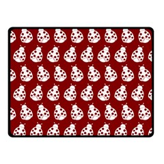Ladybug Vector Geometric Tile Pattern Fleece Blanket (small)