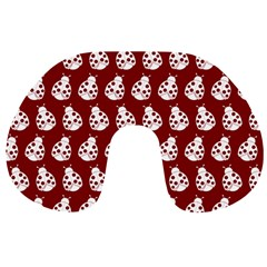 Ladybug Vector Geometric Tile Pattern Travel Neck Pillows