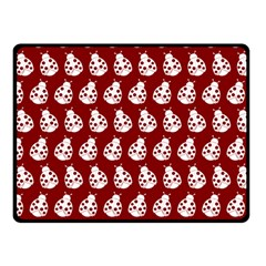 Ladybug Vector Geometric Tile Pattern Double Sided Fleece Blanket (Small)