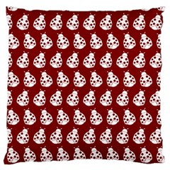 Ladybug Vector Geometric Tile Pattern Standard Flano Cushion Cases (One Side)