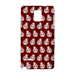 Ladybug Vector Geometric Tile Pattern Samsung Galaxy Note 4 Hardshell Case