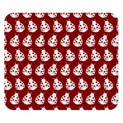 Ladybug Vector Geometric Tile Pattern Double Sided Flano Blanket (Small)