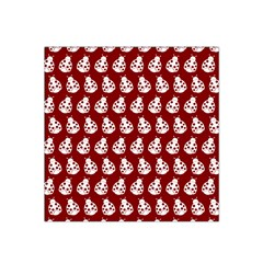 Ladybug Vector Geometric Tile Pattern Satin Bandana Scarf