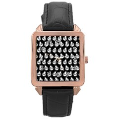 Ladybug Vector Geometric Tile Pattern Rose Gold Watches