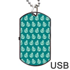 Ladybug Vector Geometric Tile Pattern Dog Tag USB Flash (Two Sides)