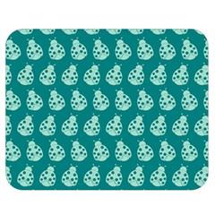 Ladybug Vector Geometric Tile Pattern Double Sided Flano Blanket (Medium)