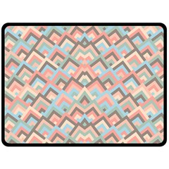 Trendy Chic Modern Chevron Pattern Fleece Blanket (Large)