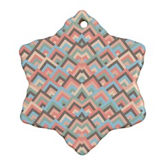 Trendy Chic Modern Chevron Pattern Ornament (Snowflake)