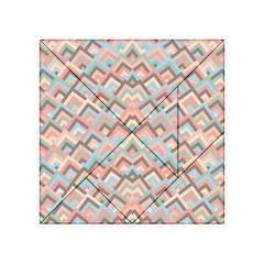 Trendy Chic Modern Chevron Pattern Acrylic Tangram Puzzle (4  X 4 )