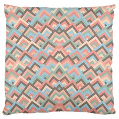 Trendy Chic Modern Chevron Pattern Large Flano Cushion Cases (one Side)