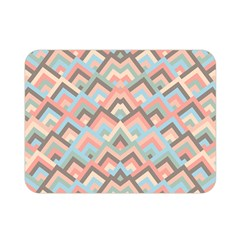 Trendy Chic Modern Chevron Pattern Double Sided Flano Blanket (Mini)